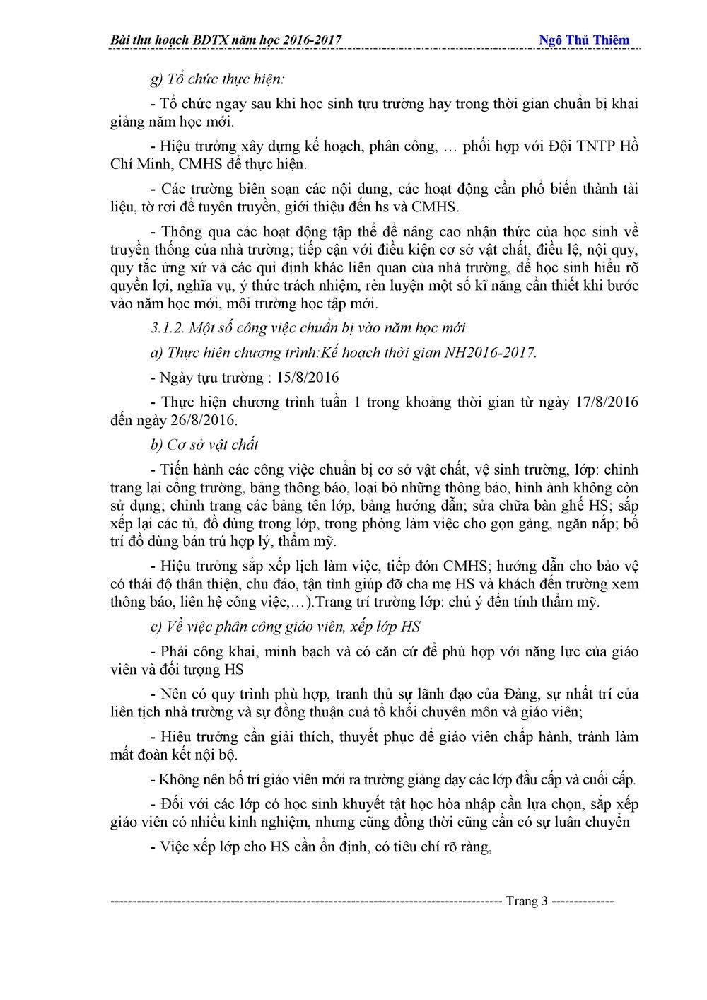 bài thu hoạch module 2 thcs