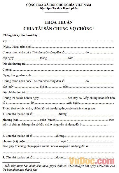 van-ban-thoa-thuan-tai-san-rieng-cua-vo-chong