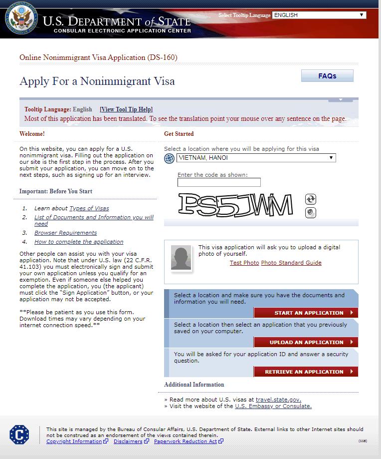 mẫu đơn ds 160 bằng tiếng việt