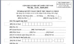 mẫu đơn miễn thuế thu nhập cá nhân