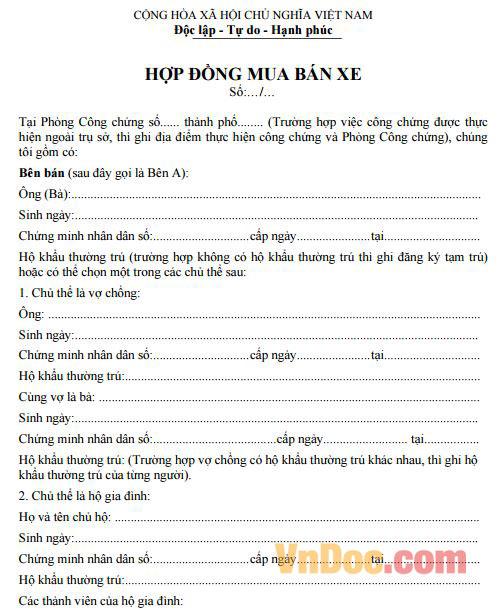 hop-dong-mua-ban-xe