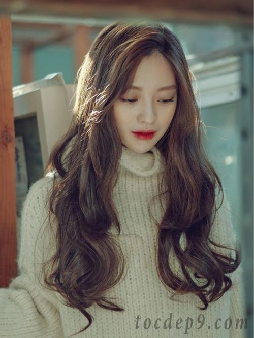 Các kiểu tóc uốn xoăn dài lọn to đẹp 2019 phù hợp mọi khuôn mặt