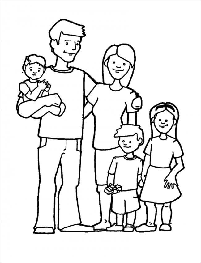 Những mẫu tranh tô màu gia đình hạnh phúc đẹp nhất dành cho bé