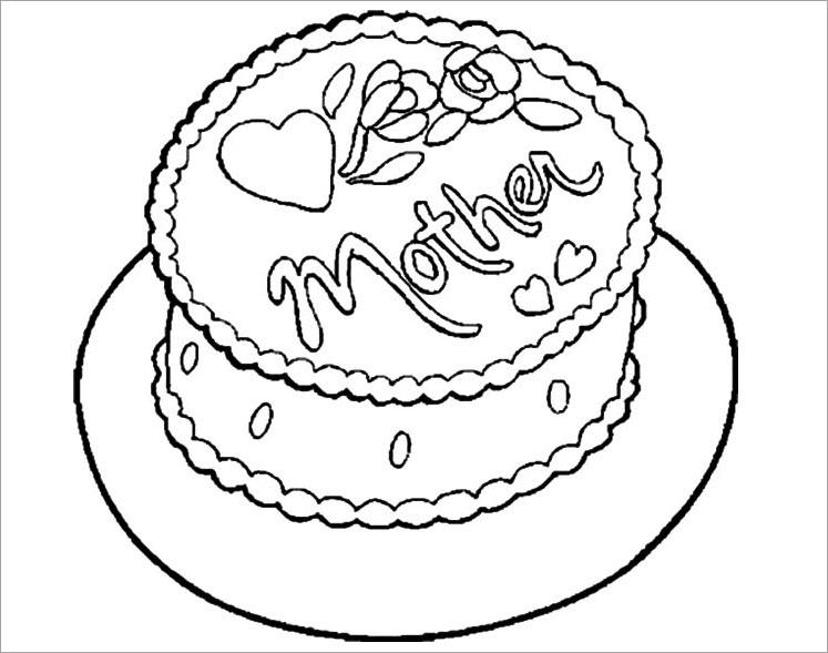 Tuyển tập tranh tô màu bánh sinh nhật đẹp nhất dành cho các bé