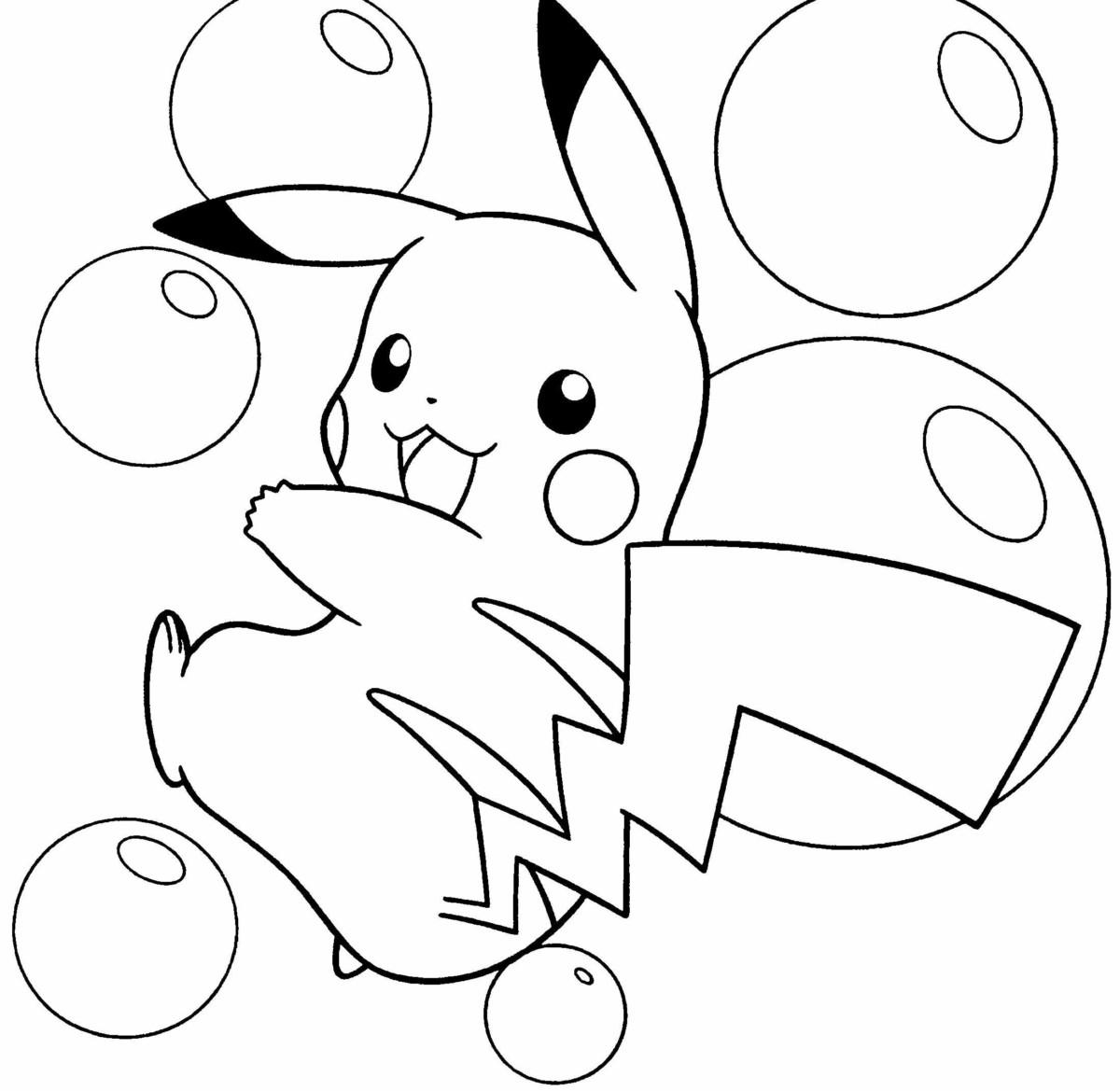 500 mẫu tranh tô màu Pokemon đẹp được các bạn nhỏ yêu thích nhất