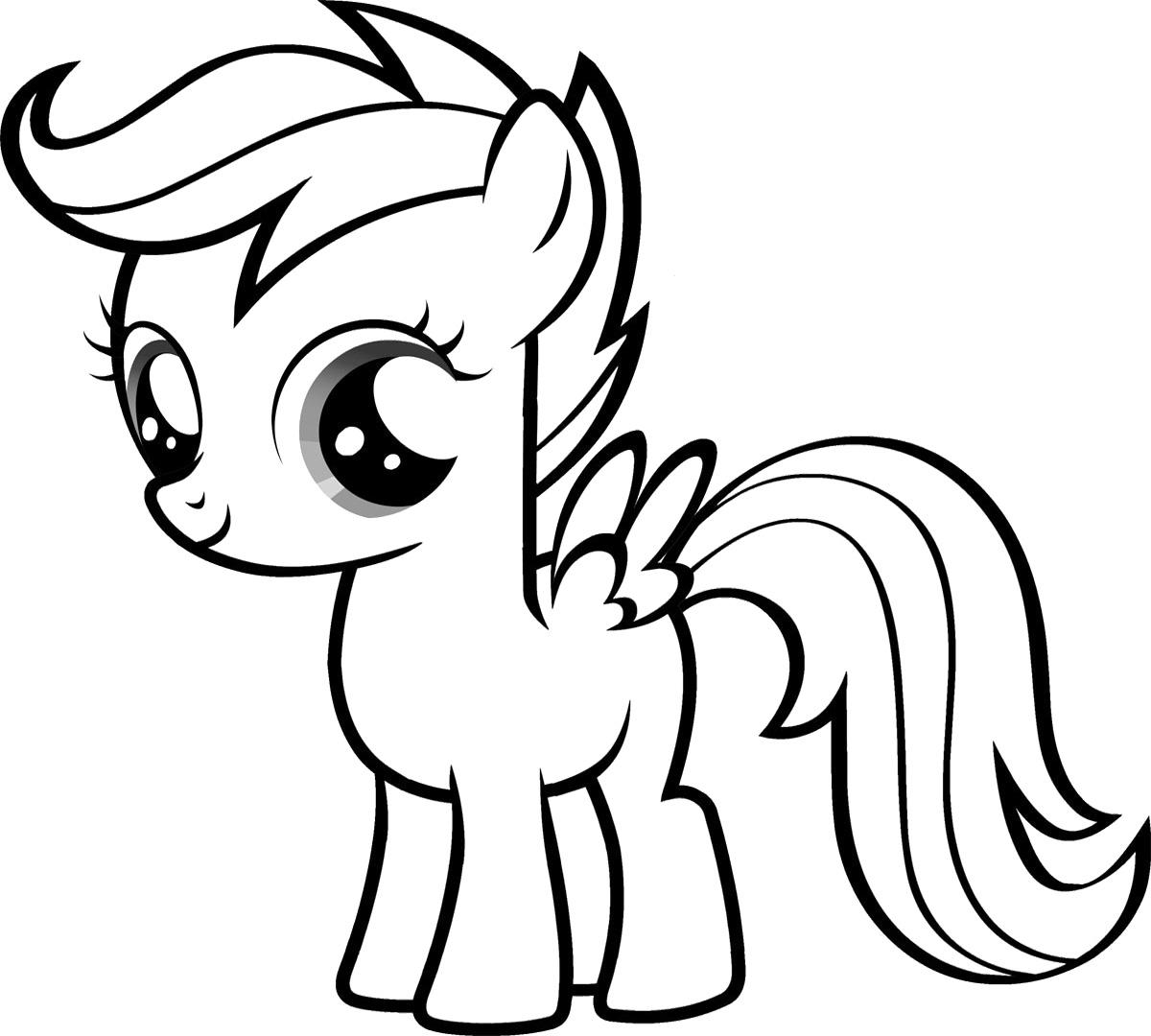 Tuyển tập các mẫu tranh tô màu ngựa Pony đẹp được yêu thích nhất