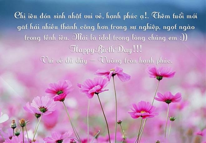 Lời chúc mừng sinh nhật chị gái em gái hay ý nghĩa và ngọt ngào nhất