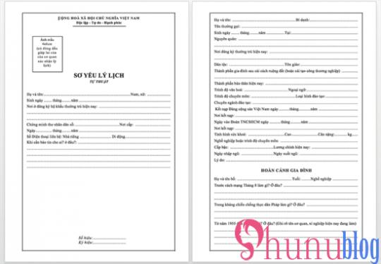 Download mẫu sơ yếu lý lịch xin việc chuẩn theo quy định mới 2019 - 2020
