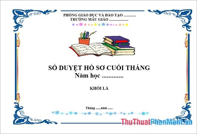 Các mẫu bìa giáo án đẹp bằng word tải miễn phí cho giáo viên