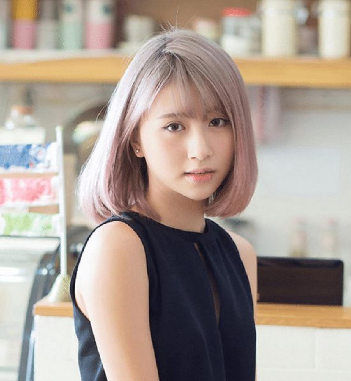 Top 50 kiểu tóc ngang vai mái thưa mặt dài đẹp được ưa chuộng nhất 2019